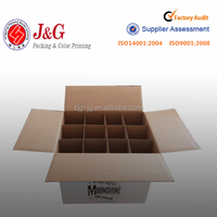 Corrugated wine box with dividers