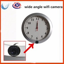 2015 year 120 degree wall clock wifi camera laptop monitor with free monitor software YZ001 fight against terrorism