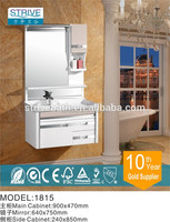 India PVC bathroom vanity designs / white lacquer bathroom vanity / slim bathroom vanity