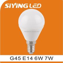 led light bulb led light lamp E27 G45 7W led lamp e14