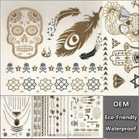 fashion Skull temporary tattoo stickers for men adult Large waterproof tattoo for back animal big tattoos sticker makeup YS065
