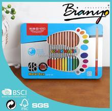 "hot selling 7"" water erasable/erasable color pencil/colour pencil set with window box"