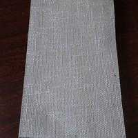 Heavy plain color mixed linen window curtain fabric for sliding drapery