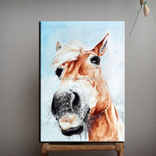Skileed Artist Handmade High Quality Abstract Animals Painting Modern Horse Portrait Oil Painting For Living Room Decoration