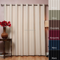 "Best Home Fashion Wide Width Thermal Insulated Blackout Curtain - Antique Bronze Grommet Top- 100""W x 84""L - (1 Panel)"