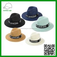 Spring and summer straw hat, beach resort jazz hat, sun hat
