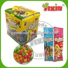 Colorfull fruit flavor Bagged candy bubble gum