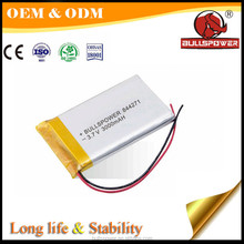 High energy density 702030 li-polymer 3600mah 7.4v small lithium polymer battery