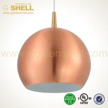 plating metal dome pendant lamp