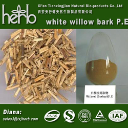 High Quality 100% Natural White Willow Bark Extract / Salicin 20%-98%