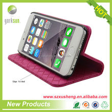 Custom made free sample leather phone case for iphone 6