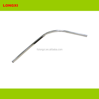 arc oval tube 30 mm x 15 mm chrome plated