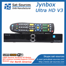 Jynxbox Ultra HD V3 with JB200 HD Module,DVB-S2,ATSC,WiFi Adapter included for North America