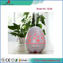Colorful LED Light Egg Shape Lonizing 400ml Cool Mist Ultrasonic Aroma Diffuser