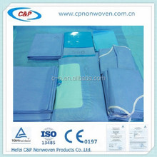 High quality sterile cover with water absorber fabric for knee kit