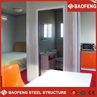 Easy installation eco-friendly modern modern steel structure concrete flat roof house designs
