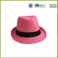 Fashion ladies plain purple mini fedora hat promotional