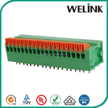 2.54mm horizontal screwless terminal block 1 to 100 poles offered, terminal block