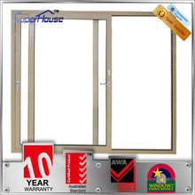 Powder coated modern style aluminium slide door with double glass for sale