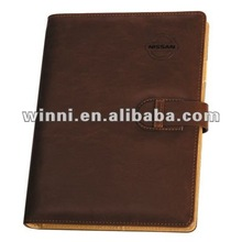 brown diary notebook
