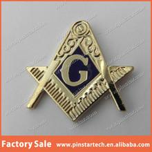 Wholesale Custom FREEMASON MASONIC RULER COMPASS EMBLEM 1 INCH Item Metal Lapel Pin Badge