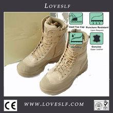 2014 loveslf más barato cp de cuero zapatos de ejército militar de arranque, el tobillo de arranque