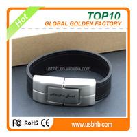 2.05 new fashion leather wristband/bracelet free laser logo usb stick/usb flash drive/ pen drive, fashinable usb flash drive