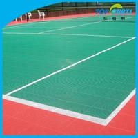 Modified PP outdoor plastic floor for tennis court