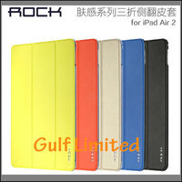 Rock Smart Soft PU Leather Flip Transparent Back Cover for iPad Air 2