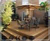 Good price hollow waterproof balcony composite decking floor bamboo deck flooring