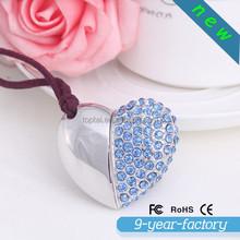 Alibaba express diamond heart shaped usb flash drive1gb 2gb 4gb 8gb 16gb 32gb 64gb 128gb