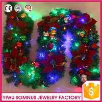Christmas Decoration LED light Acrylic pearls balls artificial foam flowers inside Christmas LED Tree flower Accessories A044