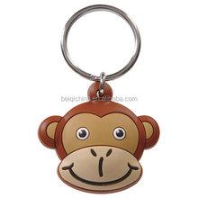 Monkey soft pvc keychain Wholesale plastic pvc keychains