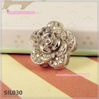 Classy Stylish Classic 925 Sterling Silver Whole Rose Flower Pendant Jewelry Charm