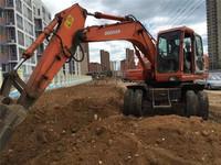 used daewoo 130w wheel excavator, south korea daewoo wheel excavator 130w