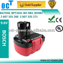 9.6V 2000mAh Ni-CD Rechargeable Battery for BOSCH 2607 3350524 2607001 380 260700180 2607300 002 BAT048 BAT100 BAT119 BH984