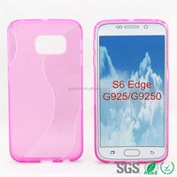 S line multi color tpu mobile phone case for samsung s6 transparent hard tpu