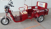 Folding electric passenger and cargo motorized tricycle
