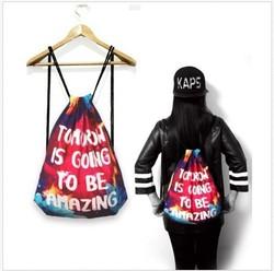 New Products 2016 Nylon Mesh Ripstop Drawstring Backpacks Bag