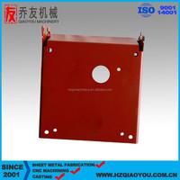 China OEM Sheet Metal bending parts, red spray welding parts