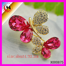 JEWELRY UNIQUE DIAMOND DESIGN FLYING BUTTERFLIES COLORFUL ANIMAL BROOCH