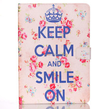 Crown Keep Clam and Smile Flower Design for Ipad Air Leather Case