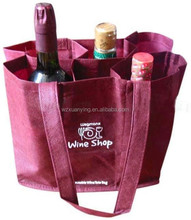 Hot sale non woven wine bottle carry bags