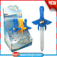 China alibaba children toys candy toys samurai sword toy with candy