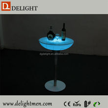 Plastic battery power night club lighting illuminated led table/ led pool table light/ led coffee table with cooler