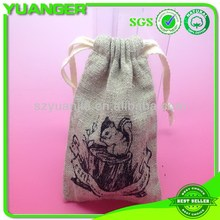 Hot sell newest flax linen storage bag