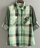 China Factory women fashion plaid shirt 100% cotton casual women dress open shirt