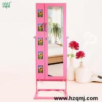 fashion furniture wooden jewelry case mirror cabinet