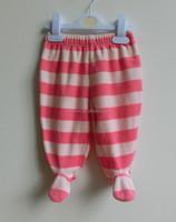 2015 new design comfortable velvet baby girl pants with footie