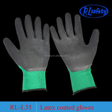 cotton liner dipping latex household wash glove cleaning gloves